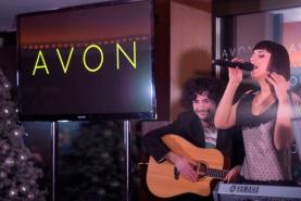 Плазменная панель на мероприятии компании Avon