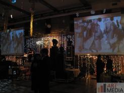 Проекционные экраны на праздничном мероприятии