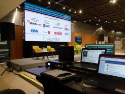 Светодиодный экран на конференции